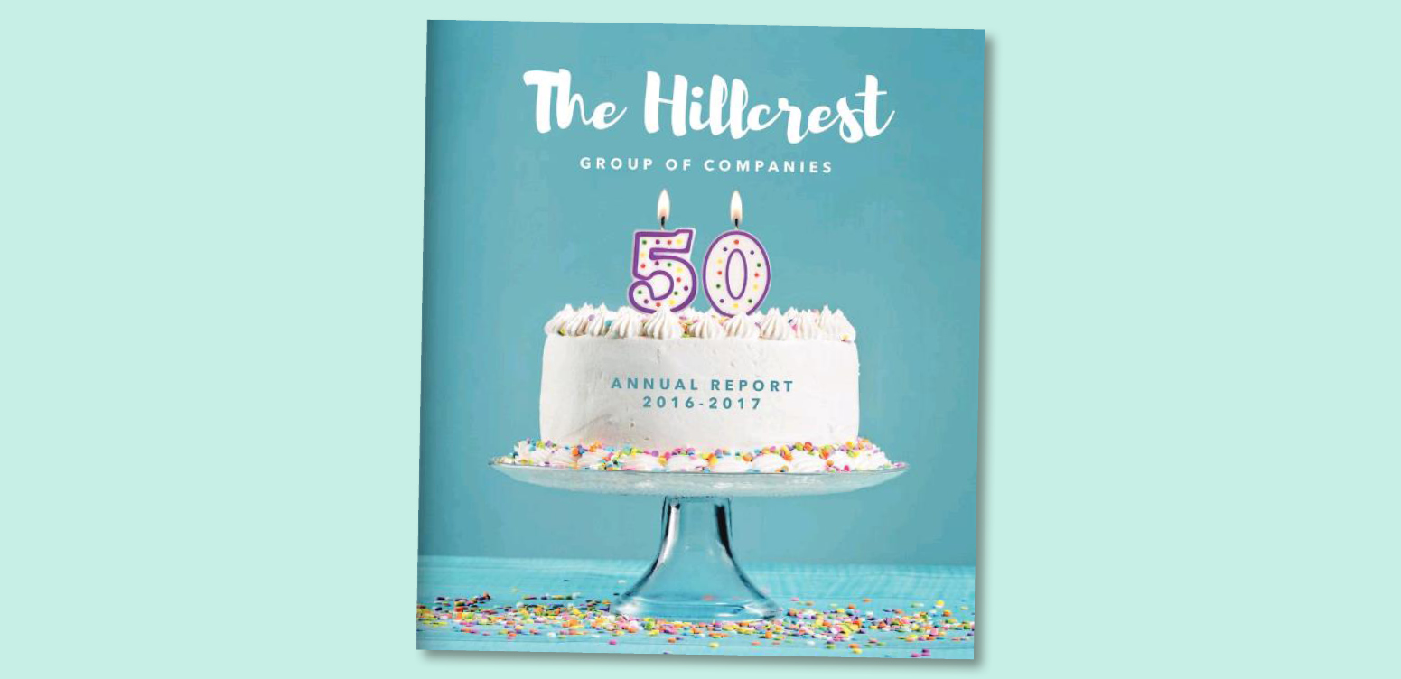 Hillcrest Group's Annual Report serves up a slice of celebration image