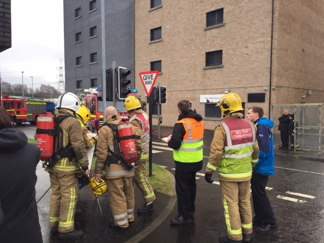 Gorbals Towerblock fire  image