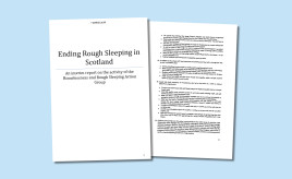 Ending rough sleeping – HARSAG publishes proposals image