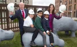 Pupils welcome the return of 'hippos' saved from extinction