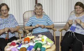 Bield tenants knit in aid of children's charity image
