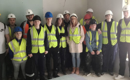 College construction students visit Hillcrest site