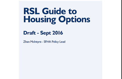 Front Cover RSL Guide to Housing Options Approach image