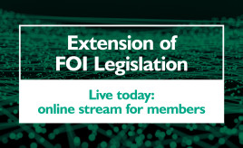 Live today: online streaming of FOI extension training for SFHA members