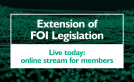 Live today: online streaming of FOI extension training for SFHA members image