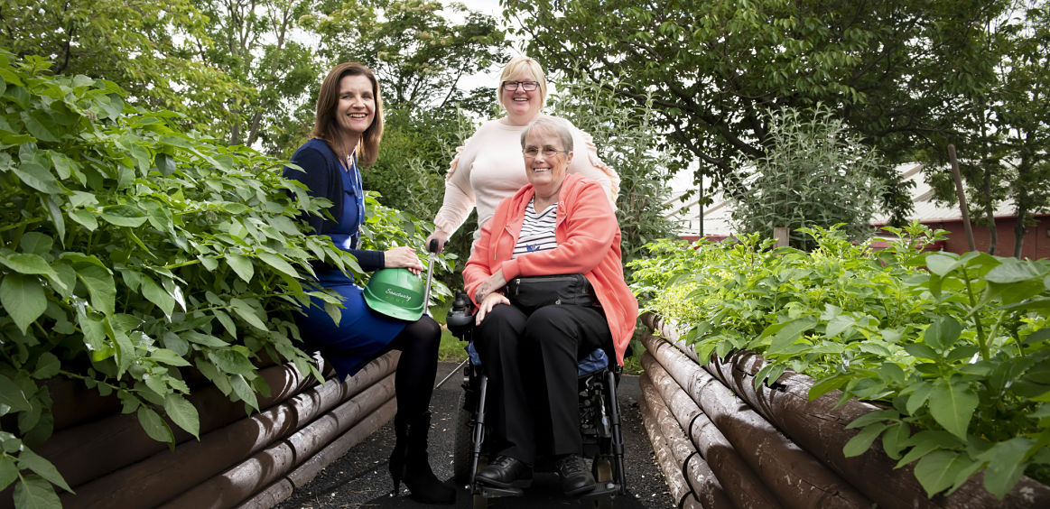 Centre users gladly led up garden path after Sanctuary makes grounds wheelchair-friendly image