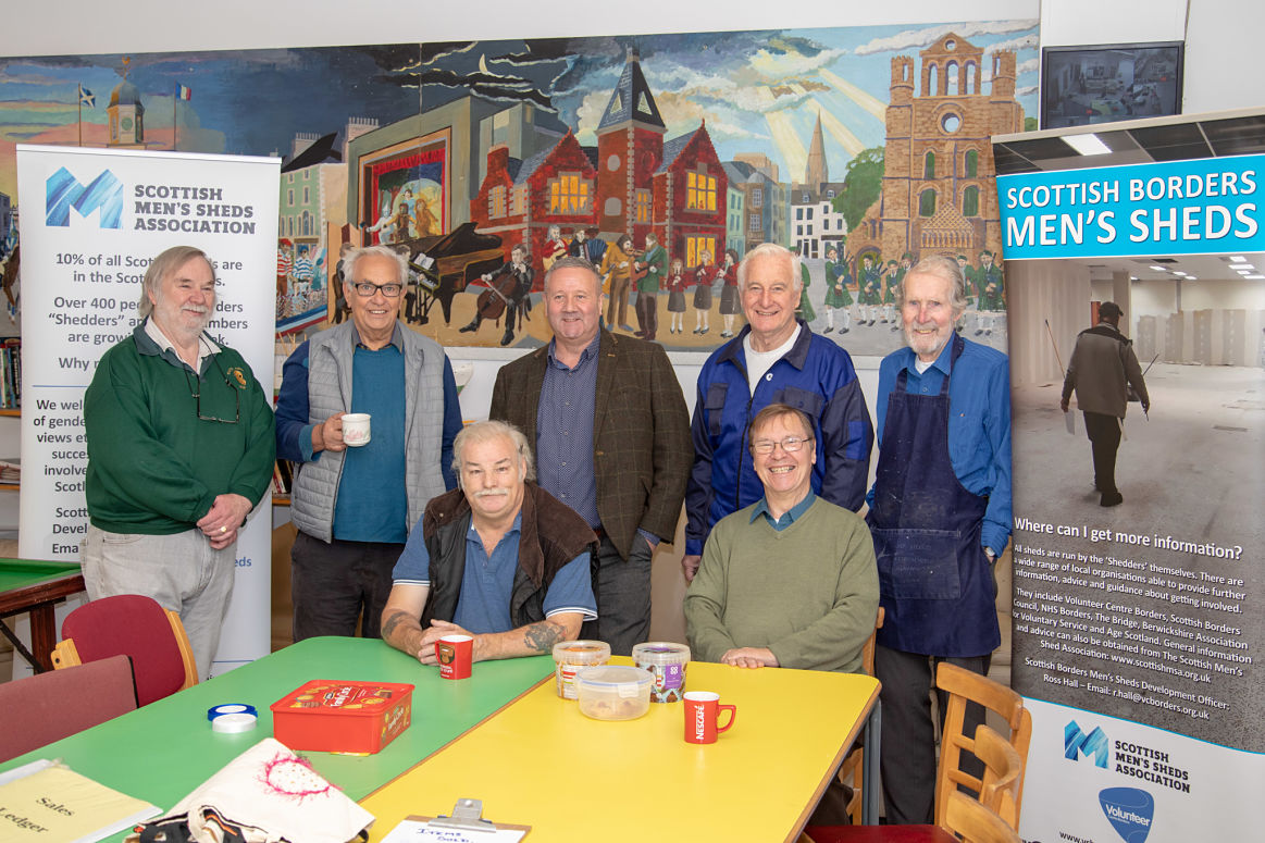 Men's Shed movement sends positive message to Borders community image