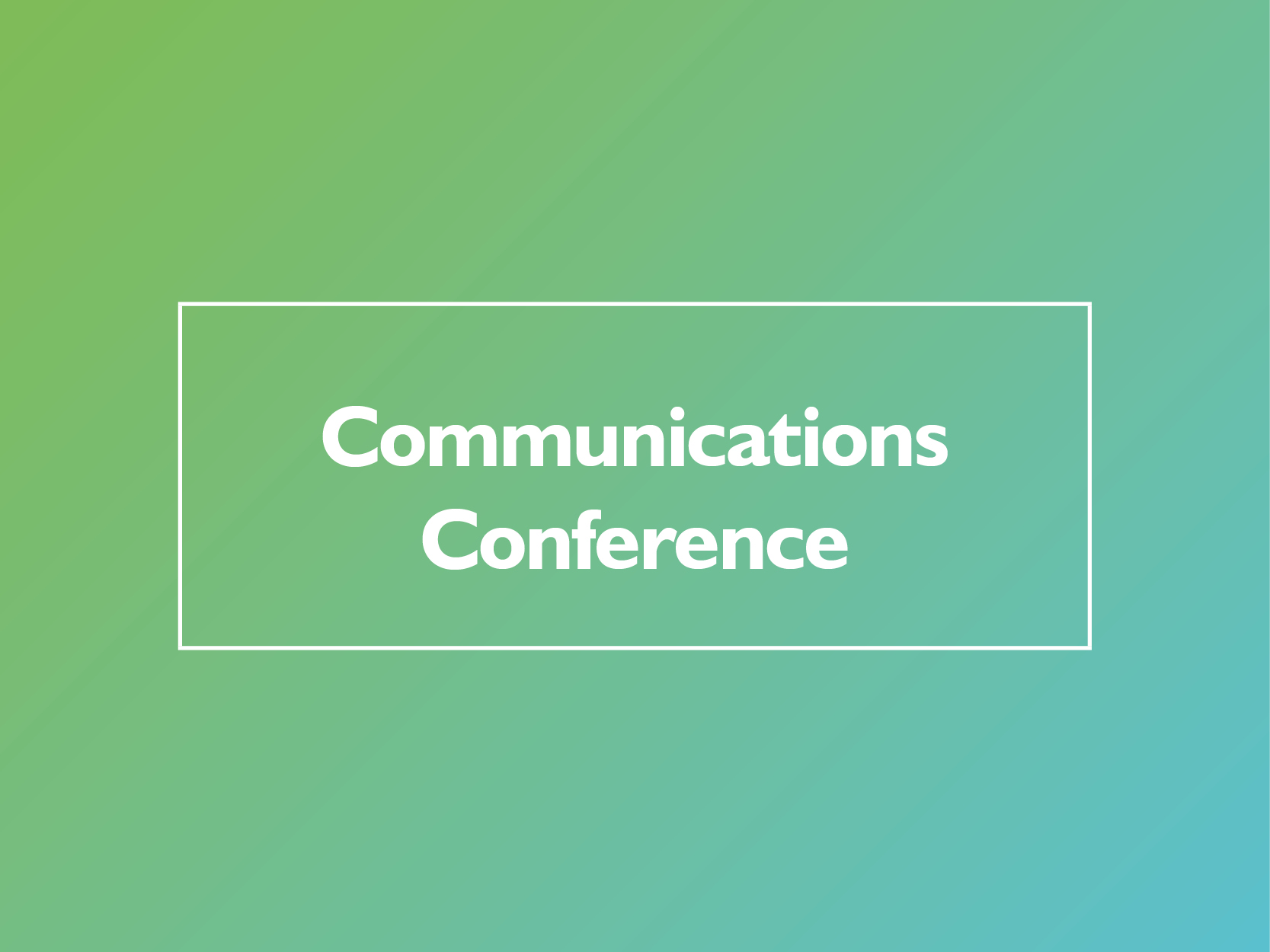 SFHA Communications Conference: save the date  image