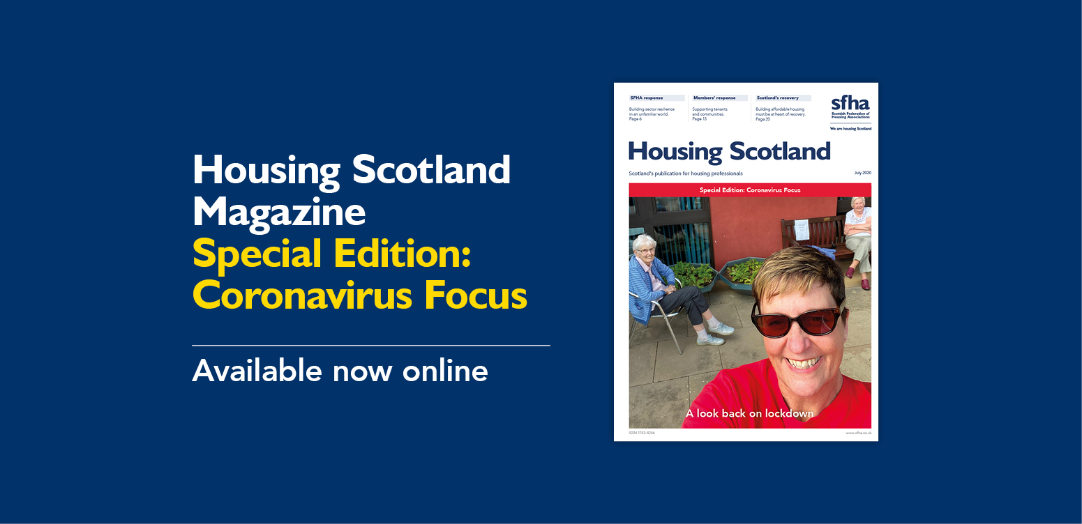 Housing Scotland digital magazine: coronavirus focus image