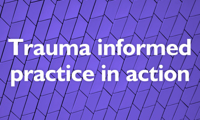 Trauma informed practice in action event image