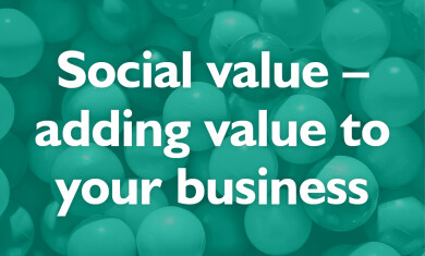Social Value - adding value to your business event image