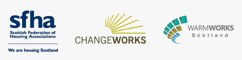 SFHA, Changeworks and Warmworks logos
