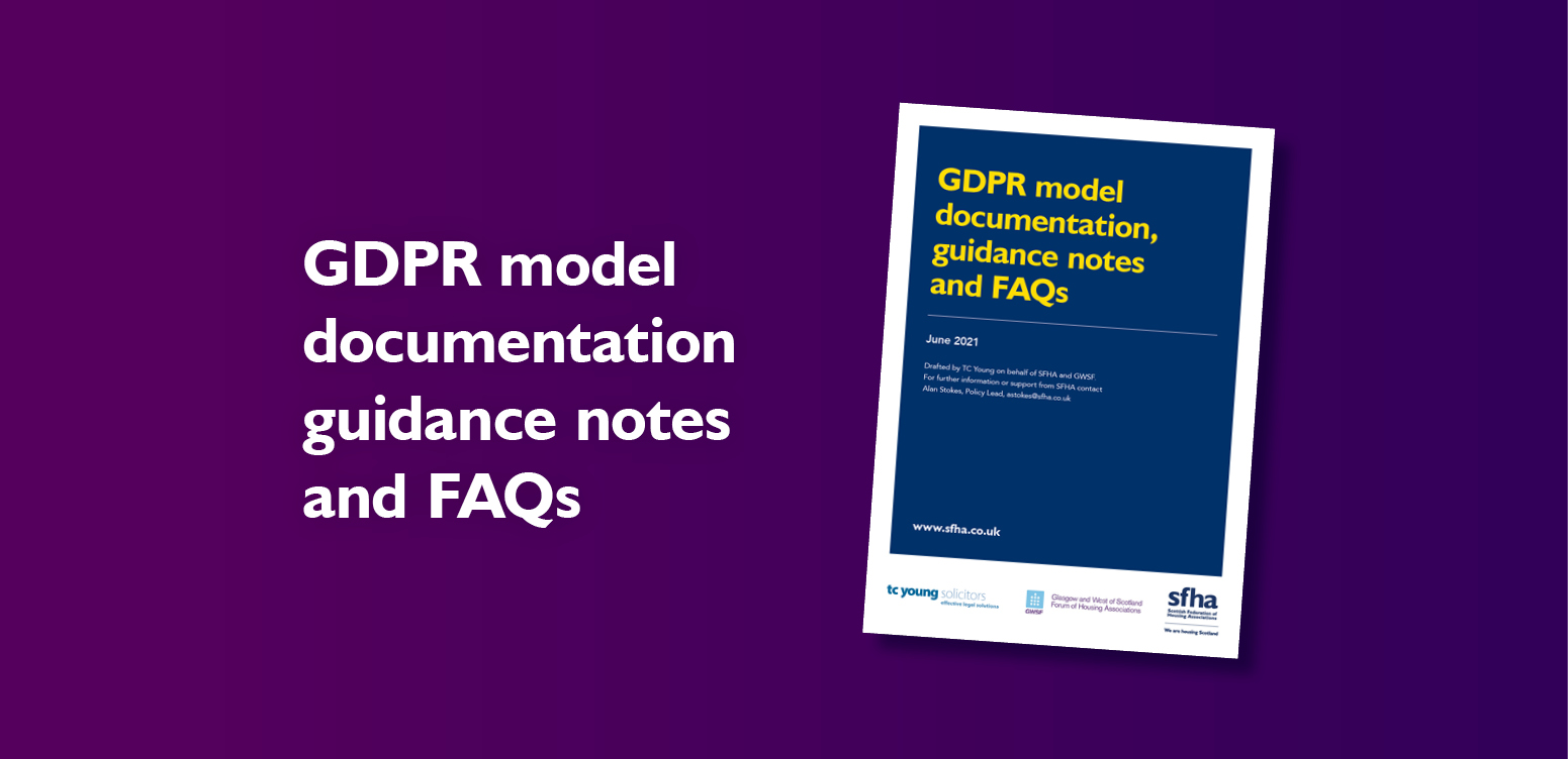 GDPR Model Documentation, Guidance Notes and FAQs - August 2021 update image