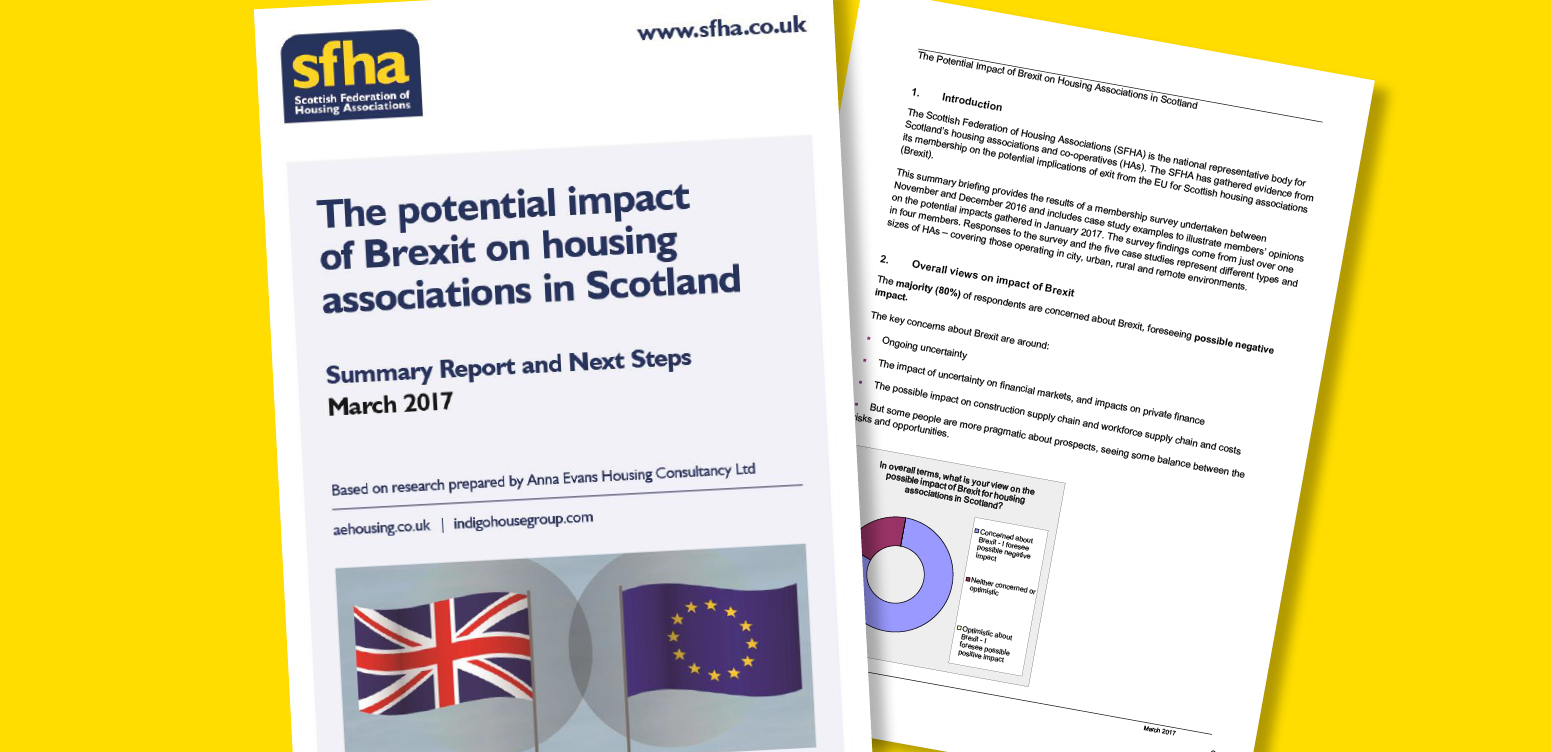 SFHA report finds 70% of respondents think Brexit will decrease capacity of construction workforce to deliver new homes image